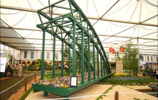 Tyne Bridge sculpture, Chelsea Flower Show